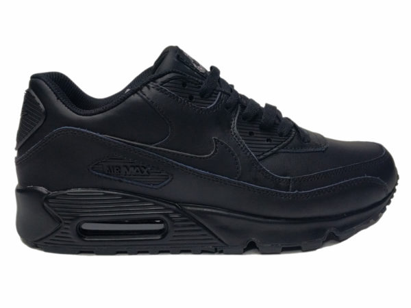 Зимние Nike Air Max 90 VT Low Leather Fur черные