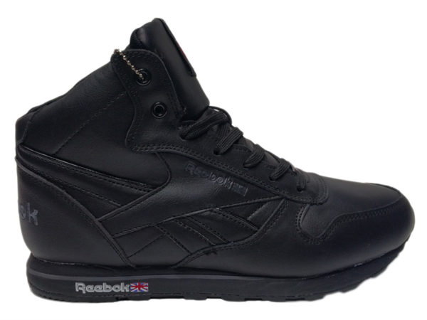Зимние Reebok Classic Leather черные