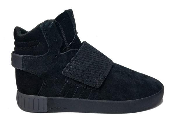 Adidas Tubular Invader Strap черные замшевые