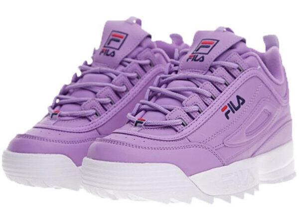 Сиреневые кроссовки Fila