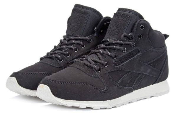 Reebok Classic High With Fur Black/White (40-45)