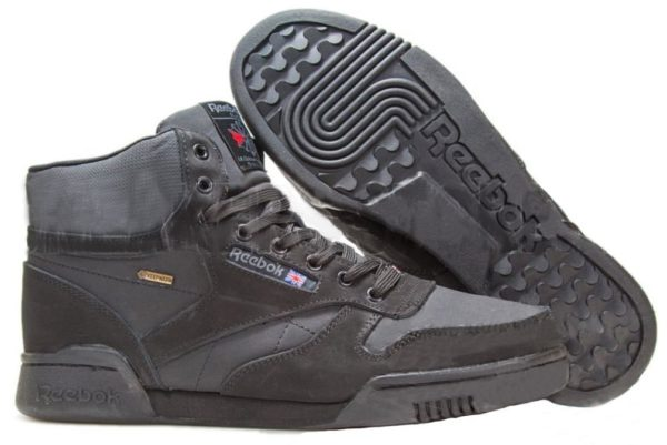 Reebok Classic Leather High Black черные (40-45)