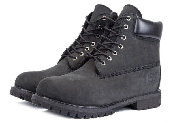 Ботинки Timberland Classic с мехом Black черные 36-46