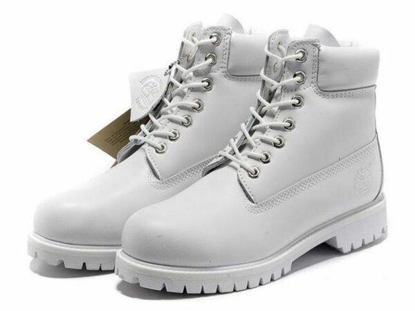 Ботинки Timberland Classic (lather white) кожаные 35-40