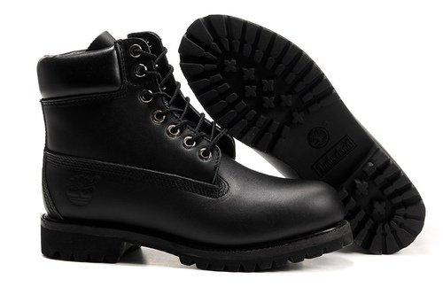 Ботинки Timberland Timberland 6 Inch Boots без меха LATHER Black кожа 40-46