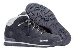 Ботинки Timberland Euro Sprint 2 Black нубук с мехом 41-46