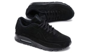Зимние Nike Air Max 90 VT с мехом черные (35-44)