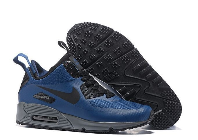Nike Air Max 90 Winter Mid Blue синие (41-44)