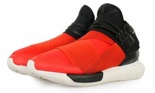 Adidas Y-3 Qasa High красные с черным