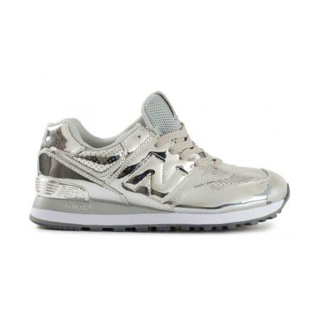 Серебряные кроссовки New Balance