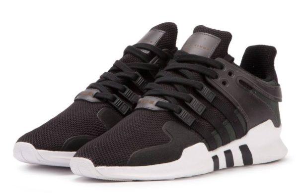 """Adidas EQT Support """"ADV"""" черные с белым (40-44)"""