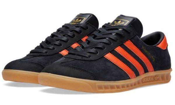 Adidas Hamburg черные с оранжевым (39-44)