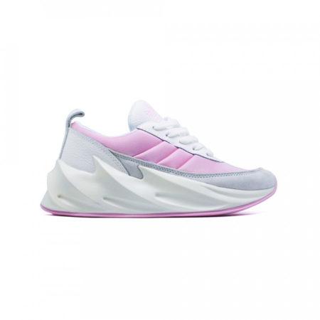 Кроссовки Adidas Sharks белые с розовым (35-39)