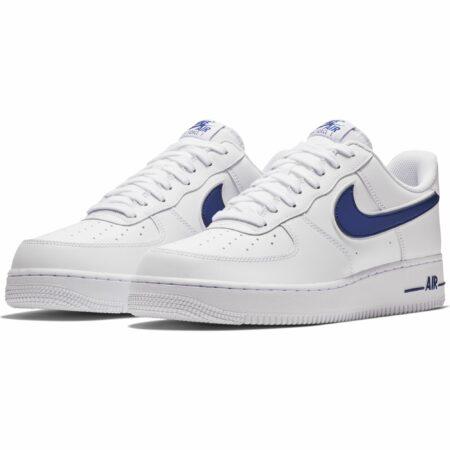 Nike Air Force 1 LV8 белые с синим (40-44)
