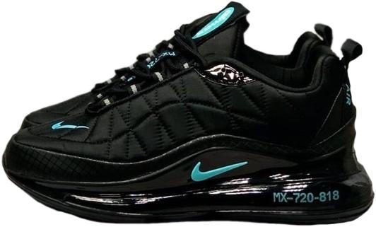 Nike Air Max 720 818 черные с зеленым (40-44)