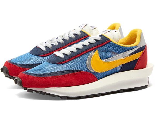 Nike Waffle Daybreak х Sacai синие-бордово-желтые (40-44)