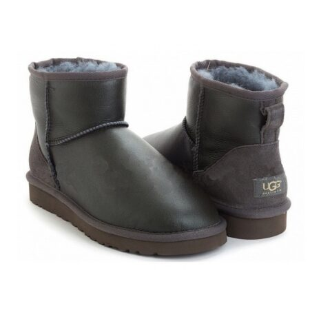Зимние Ботинки UGG Classic Bailey Mini с мехом серые (35-40)